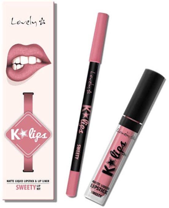Lovely K-Lips Matte Liquid Lipstick & Lip liner Sweety