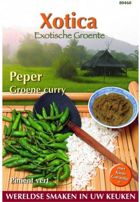 Peper Groene Curry Cabai F1 (Exoot) Capsicum annuum - set van 6 stuks