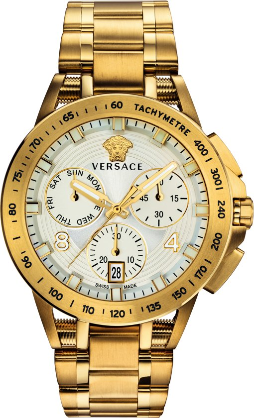 Versace - VERB005 18 - Sport Tech Chronograaf - 45 MM - Herenhorloge - Goudkleurig
