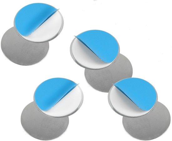 Premium 4x Magnetisch Ophangsysteem voor Rookmelders - 4 Stuks  | Vastplakken Rook Detector aan Plafond | Bevestigen Draadloze Rookmelder en Rookdetector | Rookalarm Assemblage Ophangsysteem | Brandalarm | Alarm