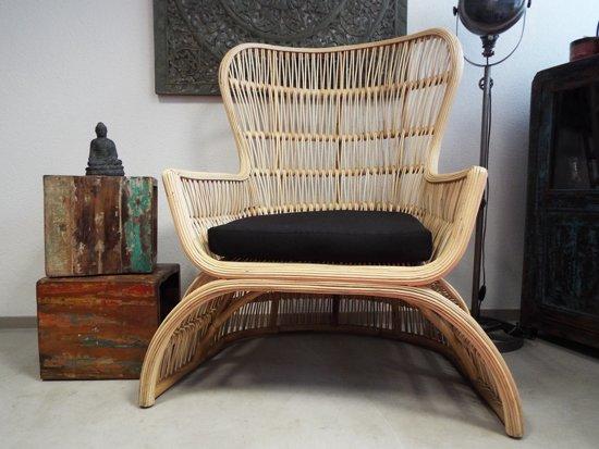 Rotan Lounge Stoel : Bol bali goeds loungestoel rotan naturel