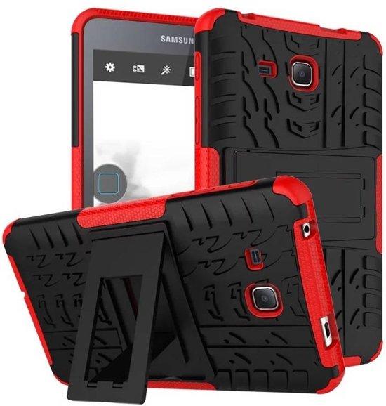 GSMWise - Samsung Galaxy Tab A 7.0 Hoesje - Ultra Hybride Hardcase Stevig Hoesje met standaard - Rood