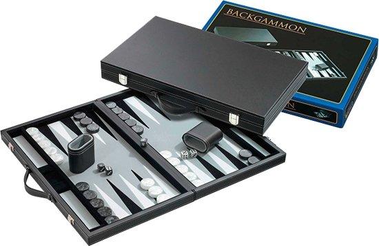 Backgammon Koffer Medium Standaard (Grijs)