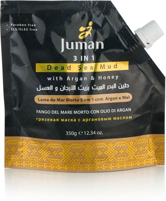 Juman 3 in 1 Dode Zee Modder Masker Met Argan en Honing