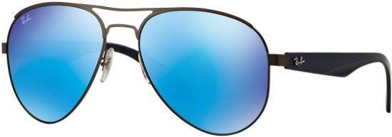 a6476d4b93a76f Ray-Ban RB3523 029 55 - zonnebril - Staalgrijs-Blauw   Blauw Spiegel