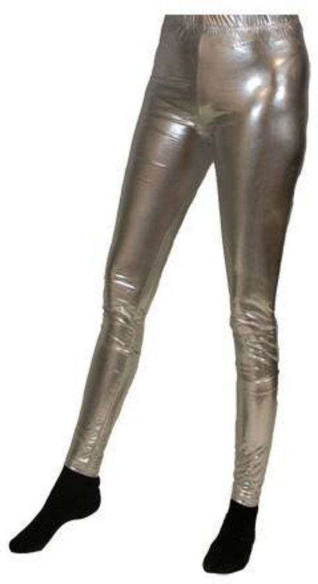 Legging lamee zilver L/XL