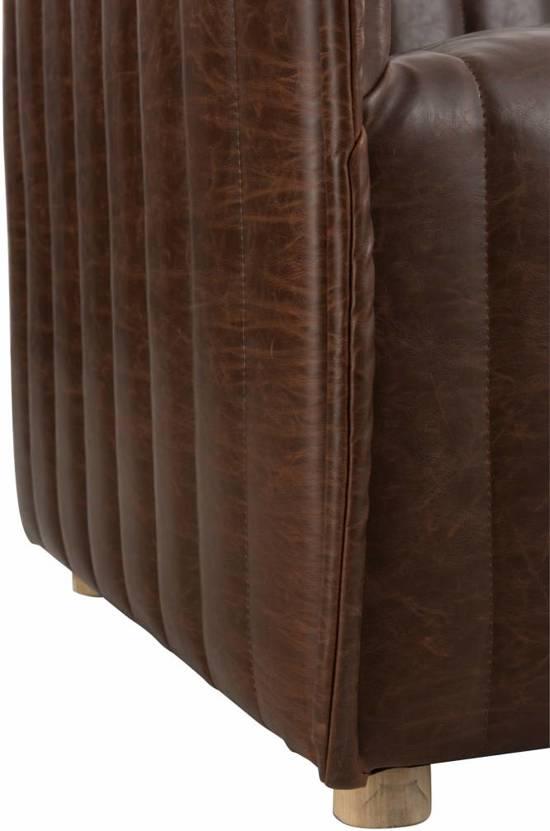 Duverger Stripes - Sofa - 3-zit - gestreept kunstleder - bruin -