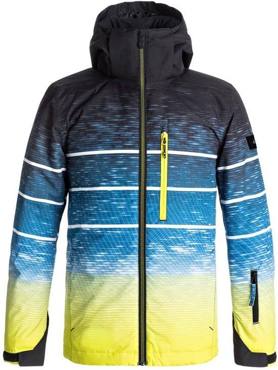 Quiksilver Mission Engineerd  Wintersportjas - Maat L  - Unisex - blauw/geel/zwart