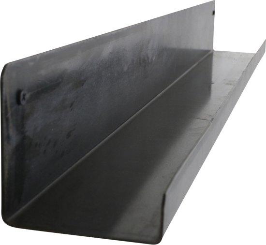 Plank Met Opstaande Rand.Raw Materials Industriele Wandplank 75 Cm Metaal