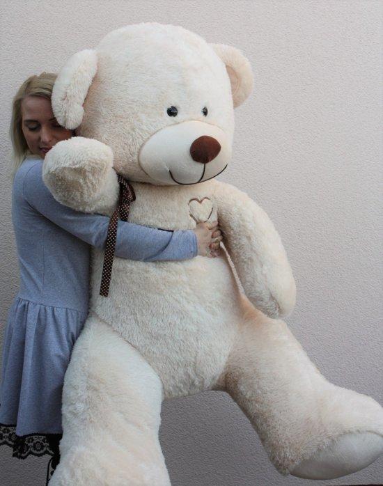 Grote Knuffelbeer 2 Meter.Grote Roze Knuffelbeer I Love You
