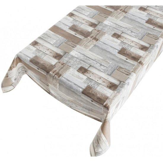 Geliefde bol.com   Buiten tafelkleed zeil houten planken motief140 x 170 cm VR27