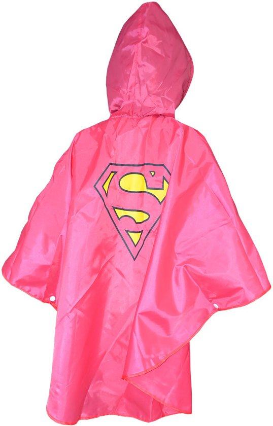 Regenponcho Kinder | Supergirl | 3-7 jr | regenkleding roze | KMSP007