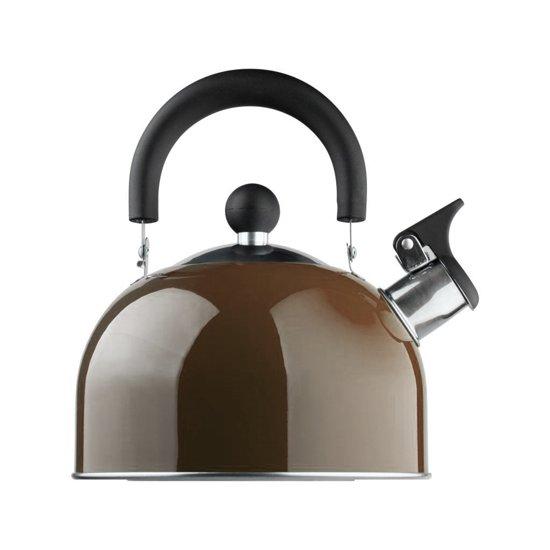 Edënbërg fluitketel 1.5 liter - rvs - bruin