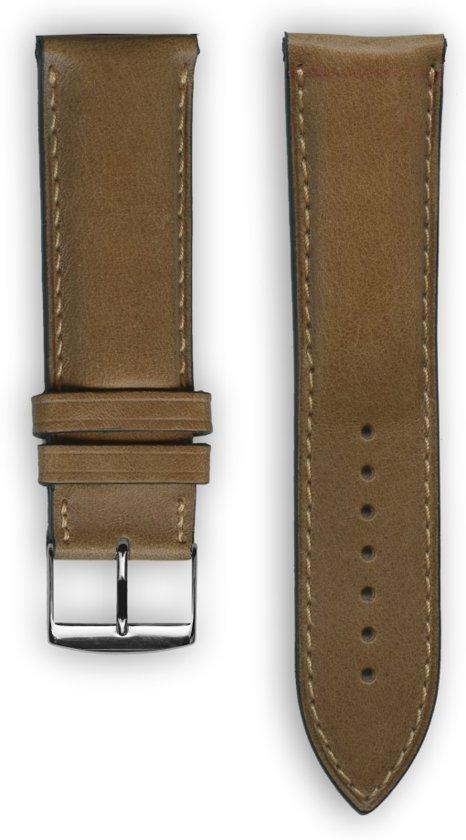 Honing lederen Top Italiaans horlogeband (Made in France) 24 mm