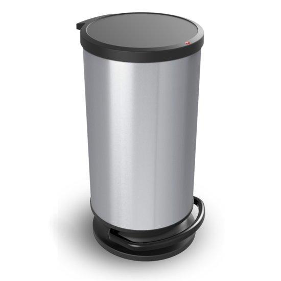 Rotho Paso Pedaalemmer.Rotho Paso Pedaalemmer 30 L Zilver Metallic