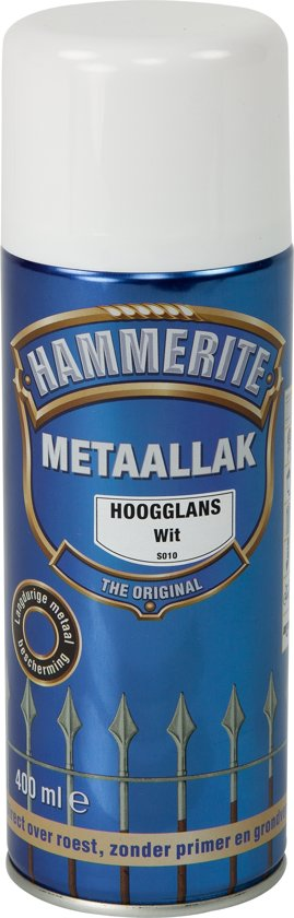 Hammerite Hoogglans Wit S010 400ML