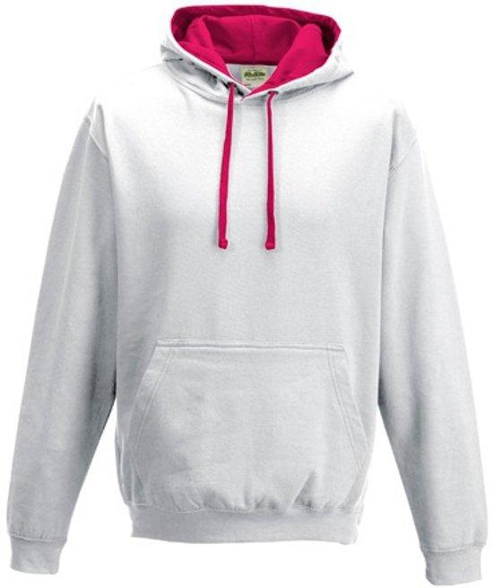 Trui Met Capuchon Dames.Bol Com Witte Sweater Met Roze Capuchon Voor Dames S