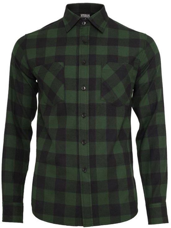 Urban blk Flanell Classics Checked Tb297 Grn Shirt AxrOAq6w