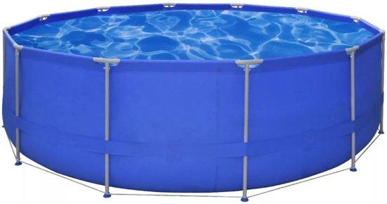 vidaXL Opbouwzwembad met stalen frame 457 x 122 cm rond
