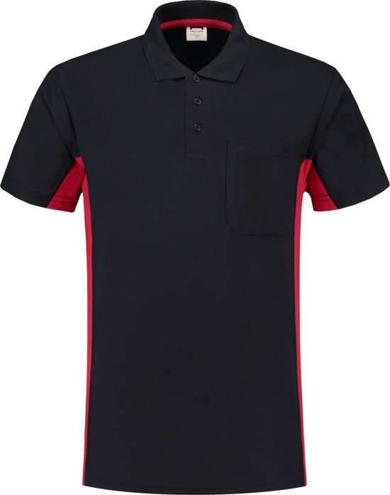 Tricorp Poloshirt Bi-Color - Workwear - 202002 - Navy-Rood - maat XS