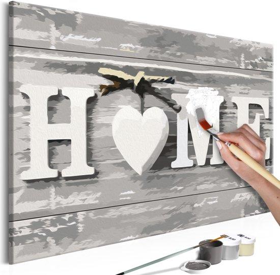 Doe-het-zelf op canvas schilderen - Home 60x40