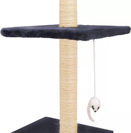 Kattenkrabpaal met sisal krabpalen 260 cm donkerblauw