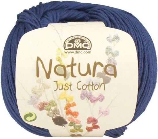DMC Natura Just Cotton N53 Blue Night. PAK MET 10 BOLLEN a 50 GRAM. KL.NUM. 30.