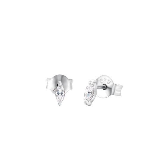I.Ma.Gi.N. Jewels 925 Sterling Zilveren Marquise Oorbellen  - Zilver
