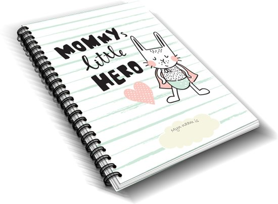 """Heen en weer oppas crèche boekje """"Mommy's Little Hero"""""""