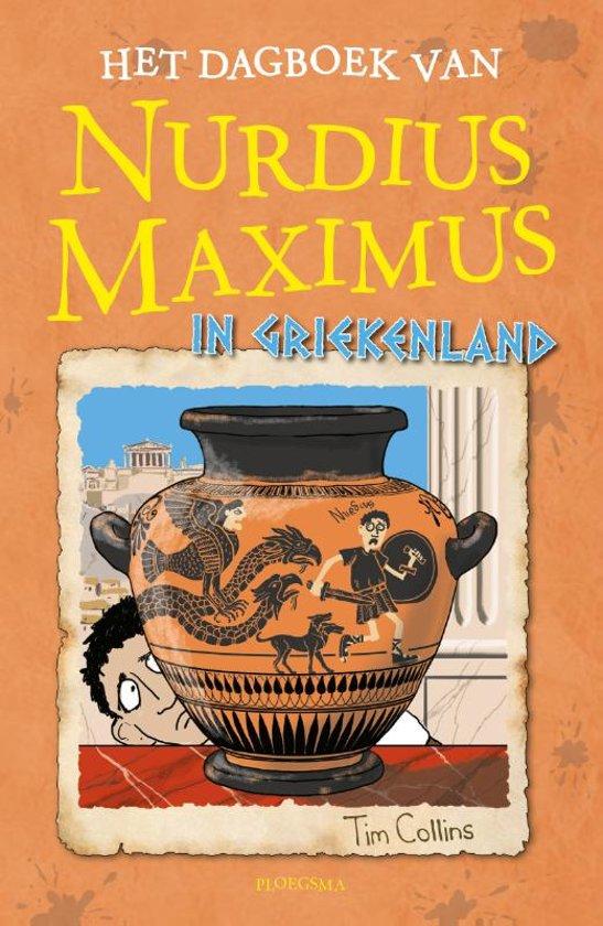 Boek cover Nurdius Maximus - Het dagboek van Nurdius Maximus in Griekenland van Tim Collins (Hardcover)