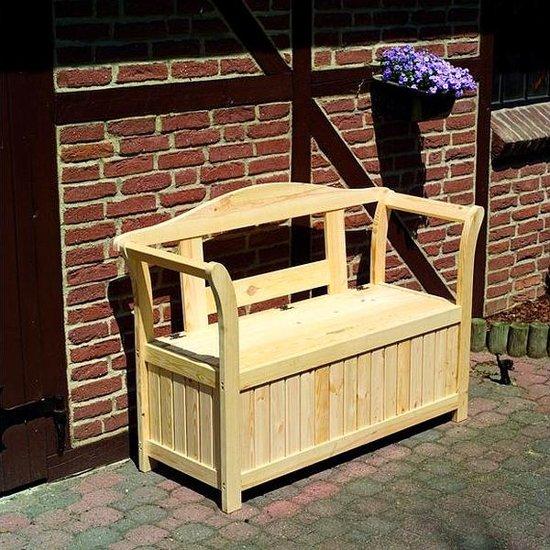 houten zitbank met opbergkist. Black Bedroom Furniture Sets. Home Design Ideas