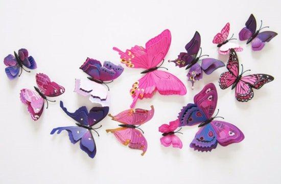 Paarse Slaapkamer Spullen : Bol dubbele paarse d vlinders
