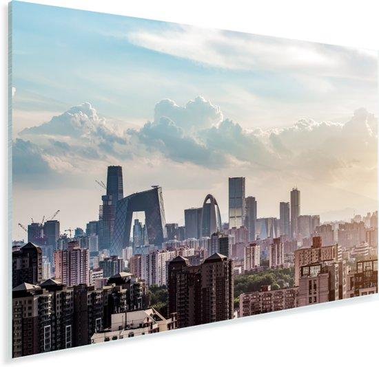 Zonsondergang in Beijing Plexiglas 120x80 cm - Foto print op Glas (Plexiglas wanddecoratie)