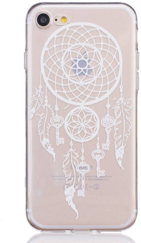 GSMWise - Apple iPhone 7 / 8 - TPU Hoesje Back Cover - Windbel Design - Wit / Goud in Foxholsterbosch