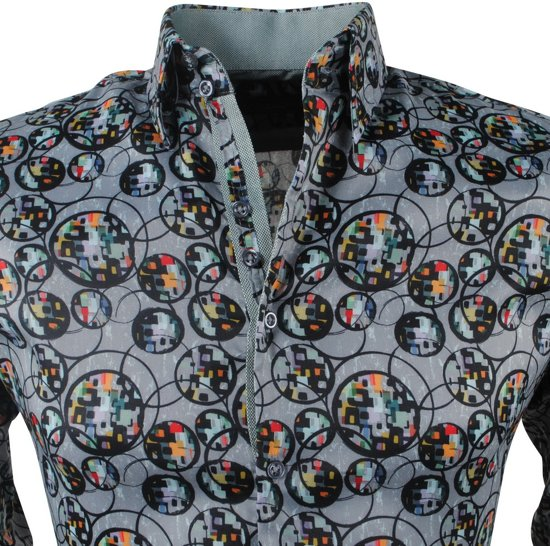 Met Trendy Overhemd Groen MontazinniHeren Design m08nvwN