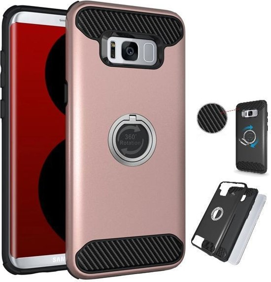 Teleplus Samsung Galaxy S8 Double Layer Cover Rose Gold
