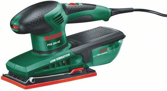 Bosch PSS 250 AE Vlakschuurmachine - 250 Watt - 92 x 182 mm schuurplateau - Incl. 28 extra schuurbladen en kunststof koffer