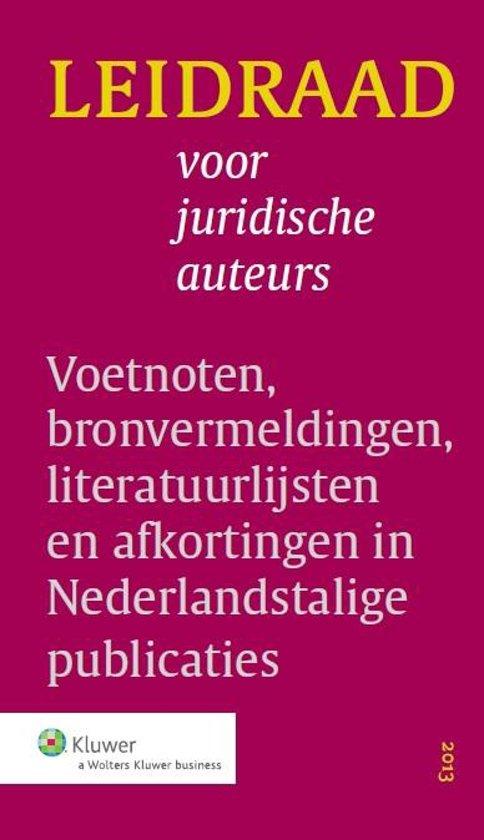 Boek cover Leidraad voor juridische auteurs van Anne De Hingh (Onbekend)