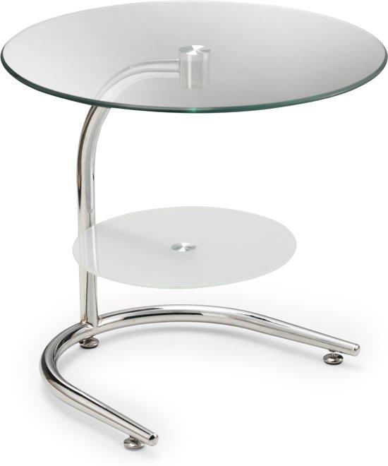 Bijzettafel Glas Chroom.Bol Com Hh Furniture Bijzettafel Chroom Glas