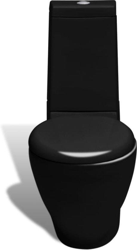 vidaXL Rechthoekig keramisch toilet zwart