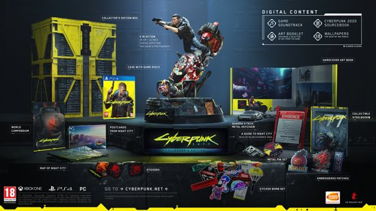 Cover van de game CYBERPUNK 2077 - Collectors Edition - PS4