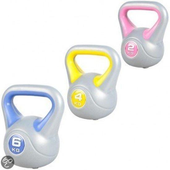 bol com sportbay kettlebell voordeel set 2, 4 en 6 kg grijs