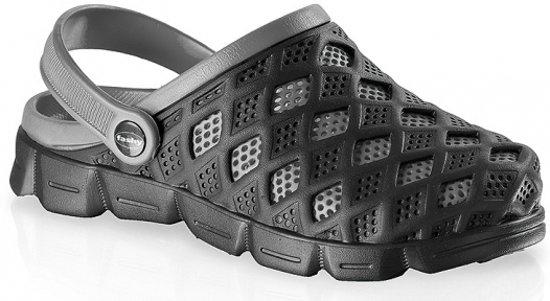 Clogs heren waterschoenen zwart/grijs 41