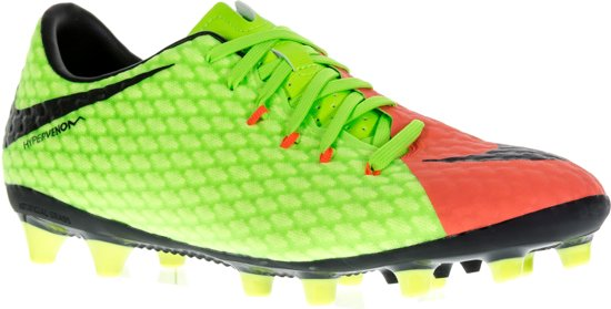 Nike Hypervenomx Voetbalschoenen - Maat 45 - Mannen - lime groen/oranje/zwart