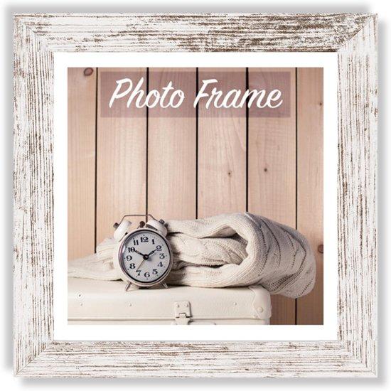 Witte Houten Fotolijst.Bol Com Zep Houten Fotolijst Wit Bruin Nelson 6 Voor Foto 30x30