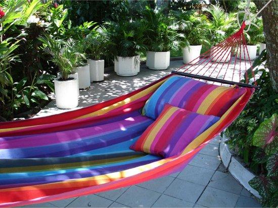 Hangmat Rainbow met spreidstok 130 cm