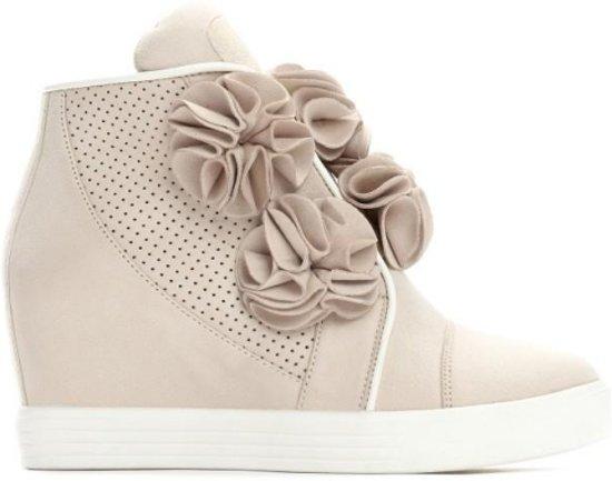 Bloemen Maat Sneakers 37 Suede Dames Met Sleehak x6RqwE70