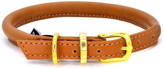Dogs & Horses Lederen Halsband rond bruin