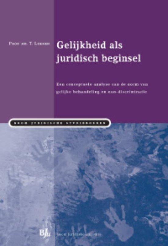 Boom Juridische studieboeken Gelijkheid als juridisch beginsel