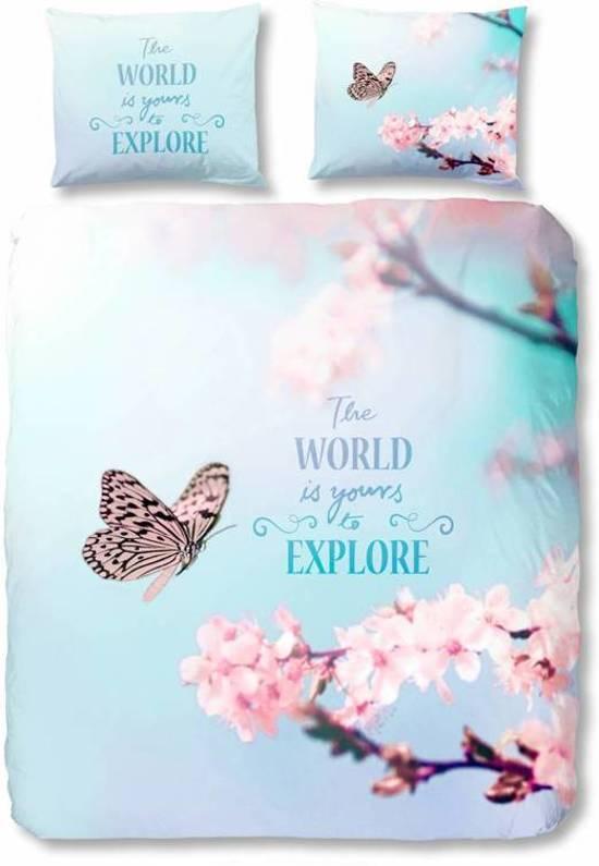 bol com   Lits jumeaux dekbedovertrek met vlinders en bloemen   4920 P (240×200  220 cm + 2 slopen)